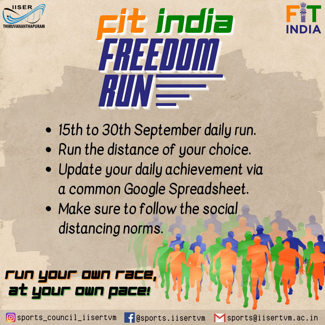 Fit India Freedom Run Poster
