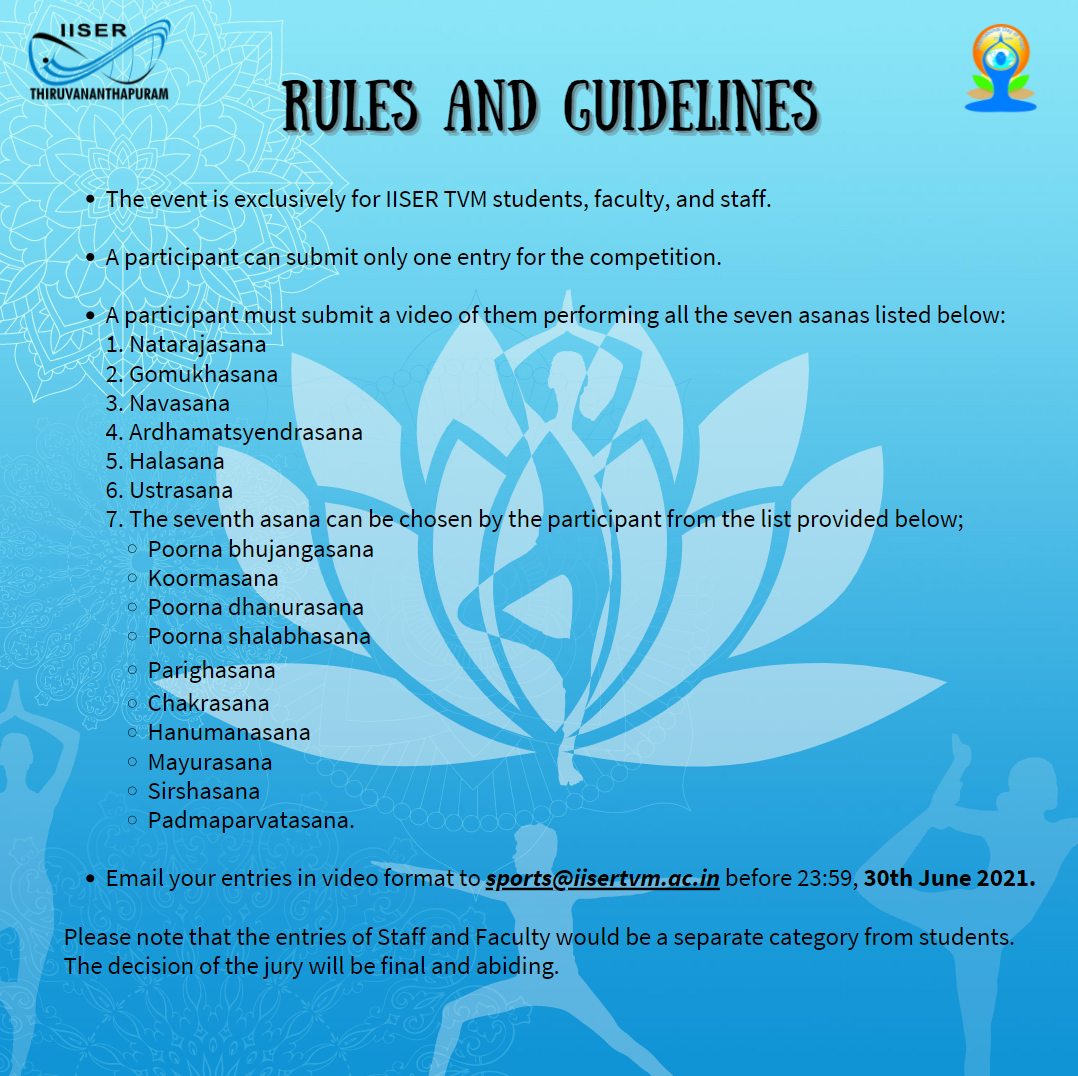 International Yoga Day Competition Rules